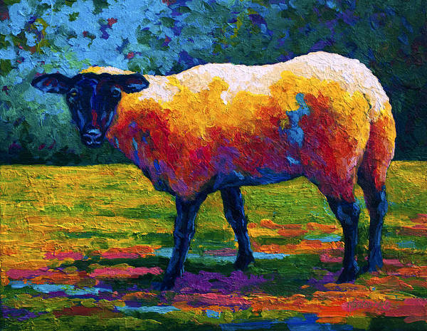 Livestock Wall Art - Painting - Suffolk Ewe IIi by Marion Rose
