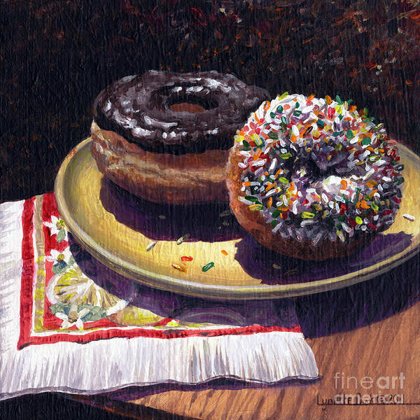 Doughnut Painting - Sugar Fix by Lynette Cook