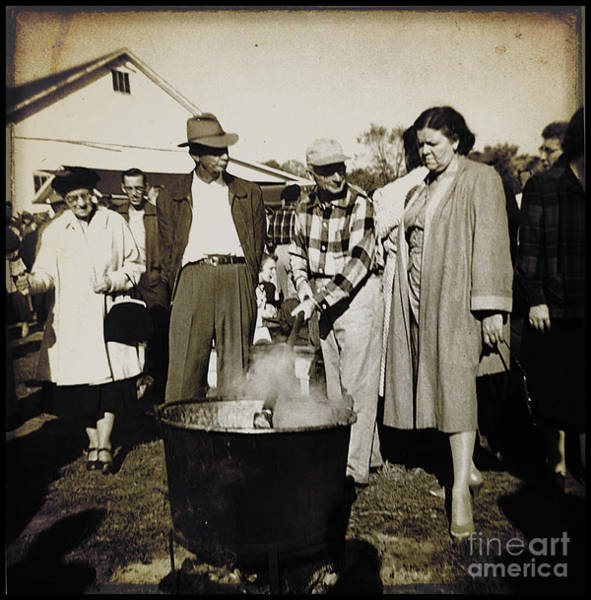 Syrup Digital Art - Sugaring Off In 1950s by Ellen Cotton