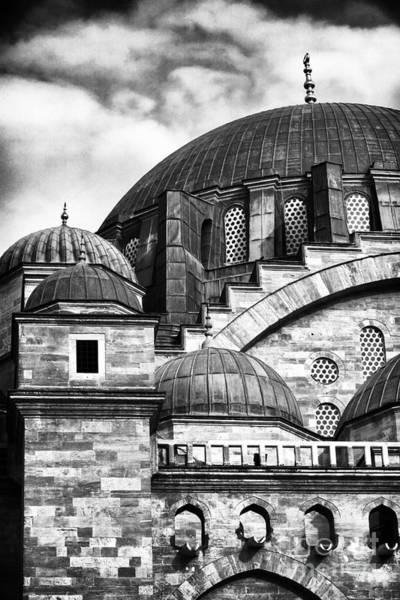 Suleymaniye Mosque Photograph - Suleymaniye Domes by John Rizzuto