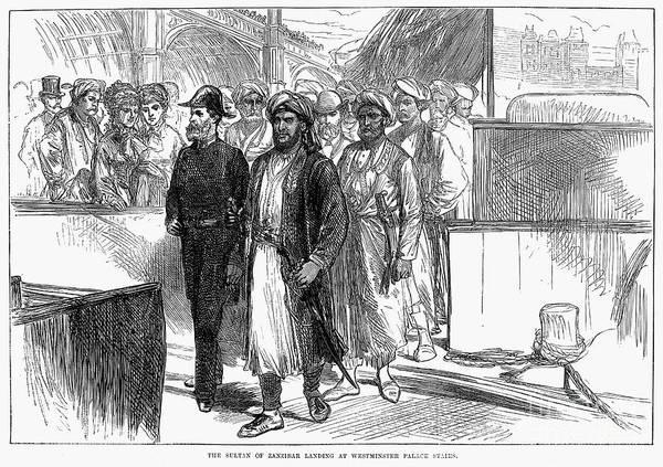 Delegation Photograph - Sultan Of Zanzibar, 1875 by Granger
