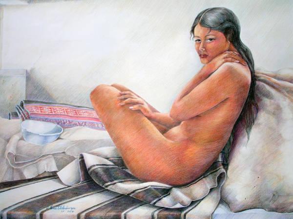 Indian Corn Drawing - Sumax Sipas by Sonia Tudela