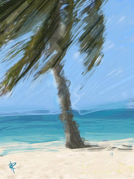 Palm Tree Mixed Media - Summer Breezes by Russell Pierce
