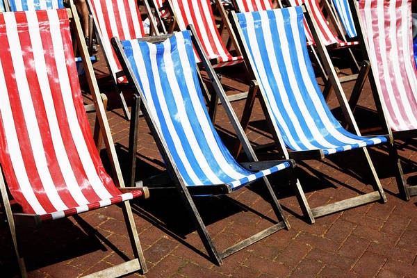 Deck Chair Photograph - Summer Deck Chairs by Richard Newstead