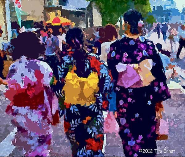 Digital Art - Summer In Japan by Tim Ernst