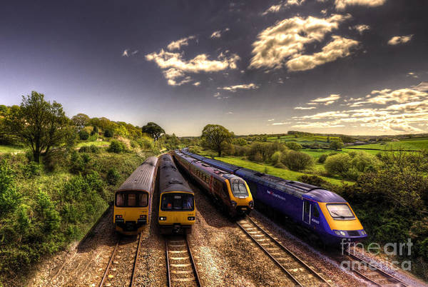 Arriva Photograph - Summer Saturday At Aller Junction by Rob Hawkins