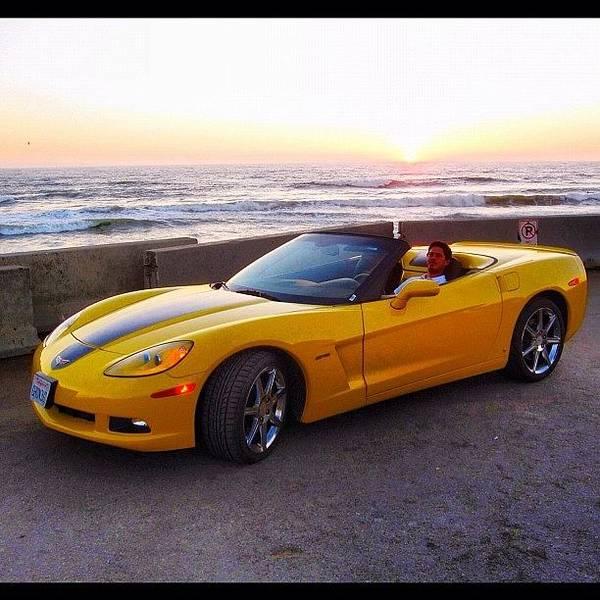 Chevrolet Corvette Photograph - #sun #dream #joy #goodtime #sunset #sky by Alon Ben Levy