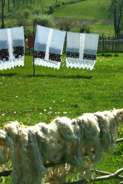 Photograph - Sun Drying Handmade Fabrics  by Emanuel Tanjala