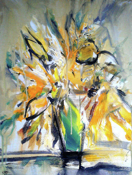 Painting - Sun Flower Day by John Jr Gholson
