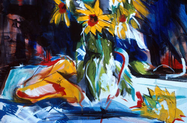 Painting - Sun Flower Shoes by John Jr Gholson
