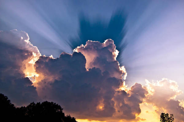 Wall Art - Photograph - Sun Rays And Clouds by Amber Flowers