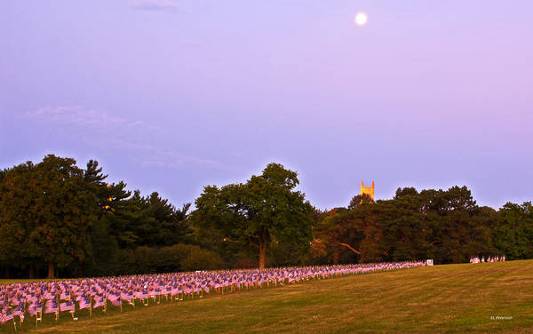 Photograph - Sun Rise On 911 Tribute by Edward Peterson