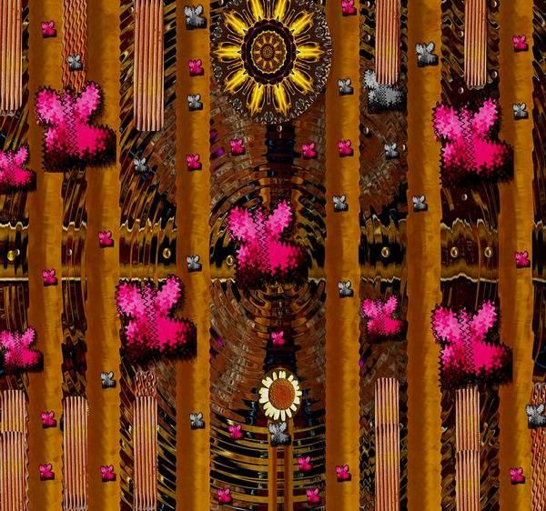 Fence Mixed Media - Sun Rose Garden by Pepita Selles