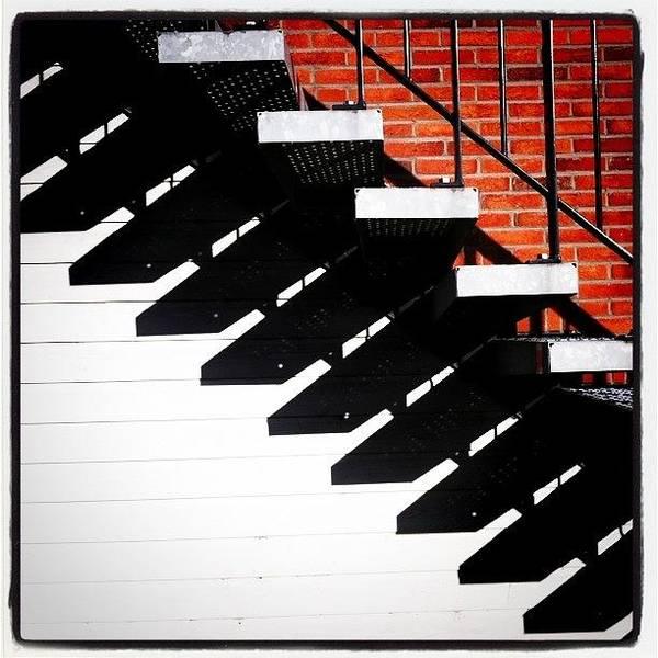 Sun Wall Art - Photograph - #sun #stairs #shadow #lines by Robbert Ter Weijden