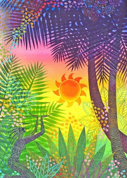 Wall Art - Painting - Sun Worshiper by Jennifer Baird