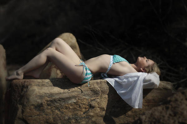 Sunbather Photograph - Sunbathing by Rick Berk