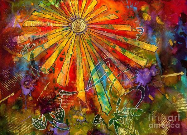 Wall Art - Painting - Sunburst by Angela L Walker