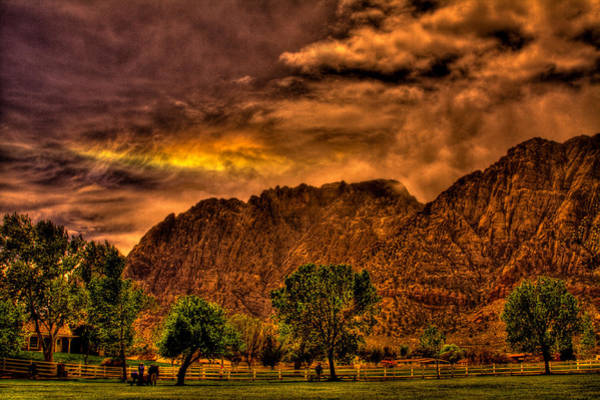 Photograph - Sundog Over Red Rock Canyon by David Patterson