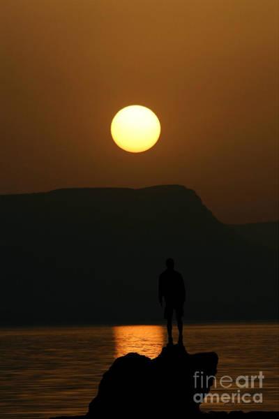 Mixed Media - Sundown Silhouette by Jerry L Barrett