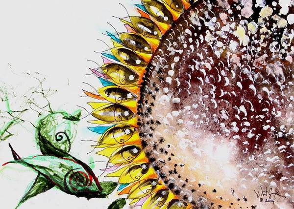 Painting - Sunflower Fish 3 by J Vincent Scarpace