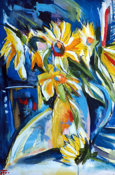 Painting - Sunflower Vase by John Jr Gholson