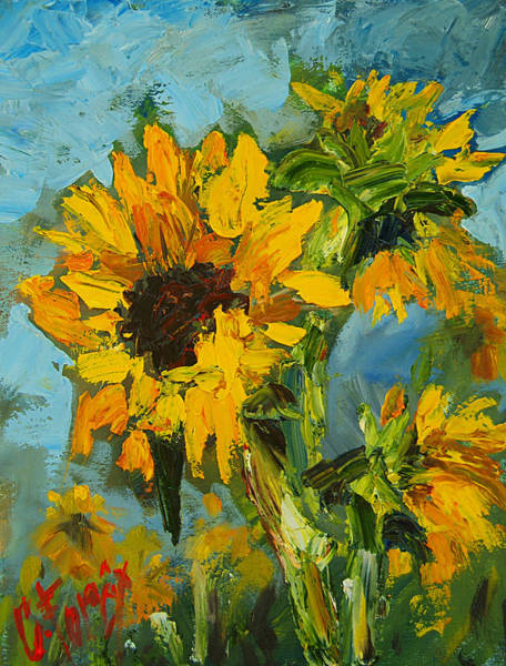 Wall Art - Painting - Sunflowers by Carole Foret