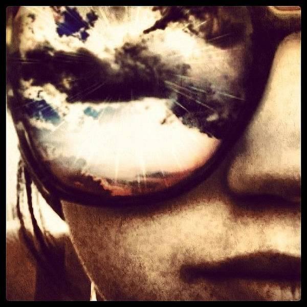 #sunglasses #me #myself #effects #edits Art Print