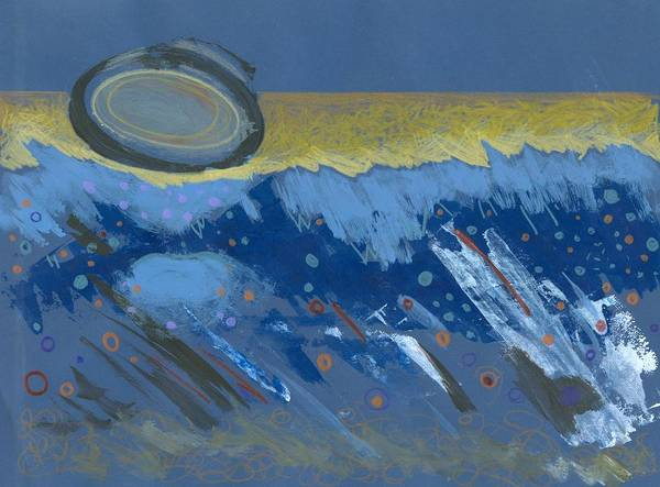 Crazy Mountains Painting - Sunken Moon by Ralf Schulze