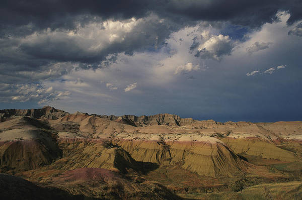 North Dakota Badlands Wall Art - Photograph - Sunlight Reveals Layers Of Yellow by Annie Griffiths