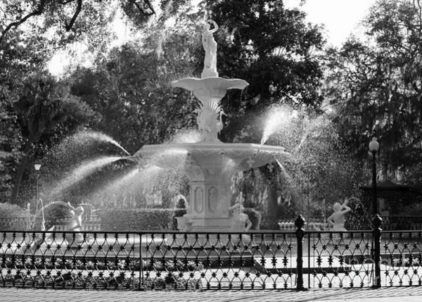 Photograph - Sunlight Through Savannah Fountain by Carol Groenen