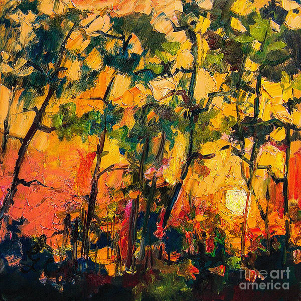 Painting - Sunset Through The Pines by Ginette Callaway