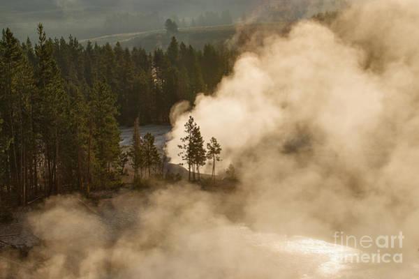 Photograph - Sunlit Steambath by Charles Kozierok