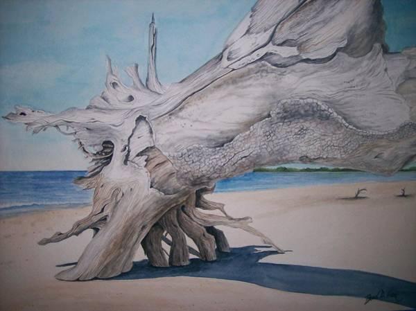 Jekyll Island Painting - Sunning On Jekyll by Brad Hook