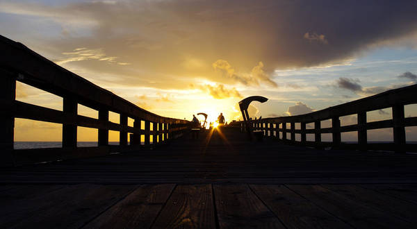 Wall Art - Photograph - Sunrise - Saint Augustine Beach Pier by Jon Hartman