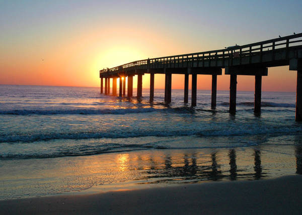 Photograph - Sunrise At The Pier by Rod Seel