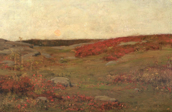 1885 Wall Art - Painting - Sunrise In Autumn by Childe Hassam