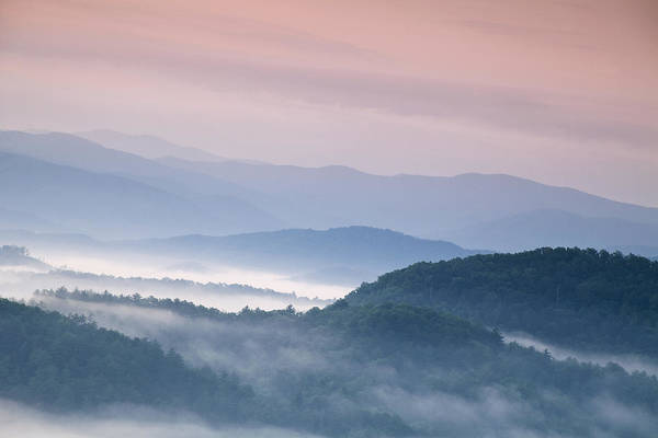 Foothills Wall Art - Photograph - Sunrise In The Smokies by Andrew Soundarajan