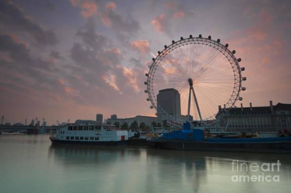 Wall Art - Photograph - Sunrise London Eye by Donald Davis