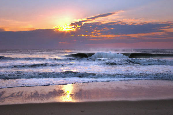 Photograph - Sunrise On The Waves by Mary Almond