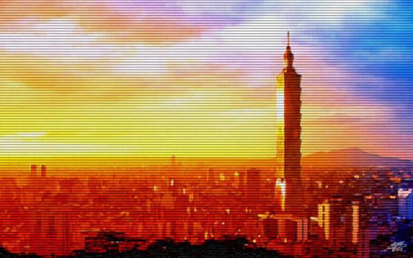 101 Digital Art - Sunrise Over Taipei by Steve Huang