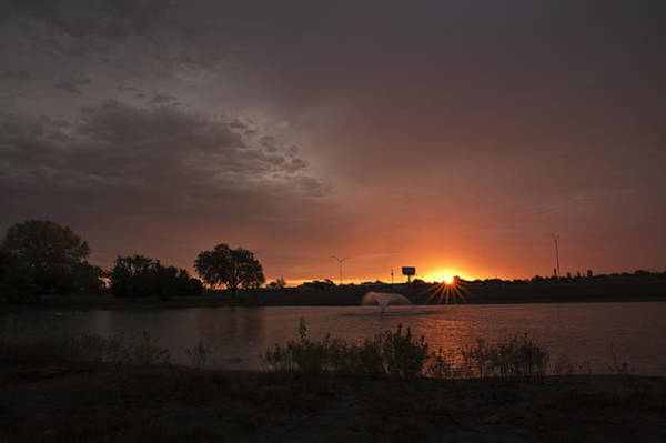 Photograph - Sunrise Over The Duck Pond by Melany Sarafis