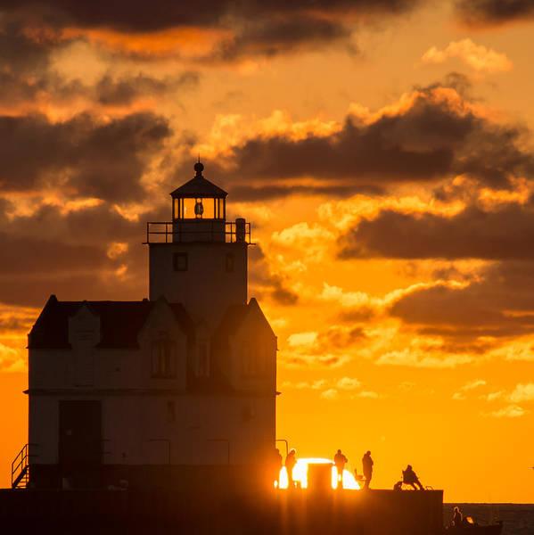 Wall Art - Photograph - Sunrise Pier Fishermen by Bill Pevlor