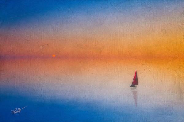 Sailboat Mixed Media - Sunrise Sail by Michael Petrizzo