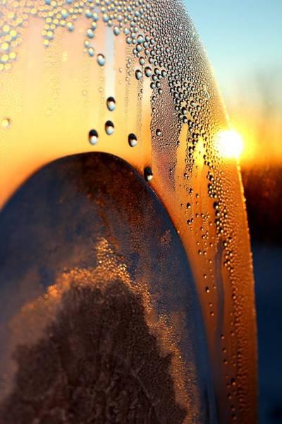 Christy Photograph - Sunrise Thru Ice by Christy Patino