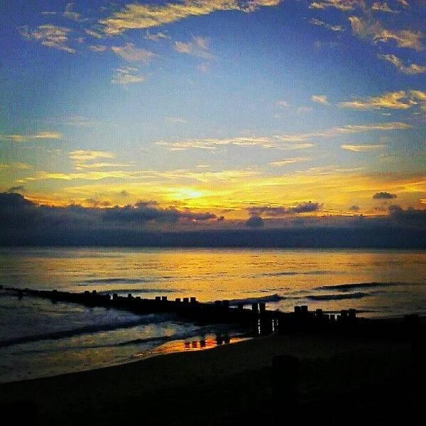 Norfolk Photograph - #sunrise #today ... #seaside #sea by Alexandra Cook