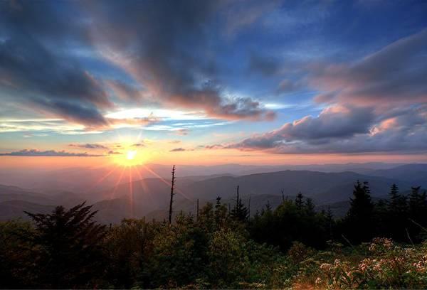 Photograph - Sunset - Great Smoky Mountains National Park by Doug McPherson