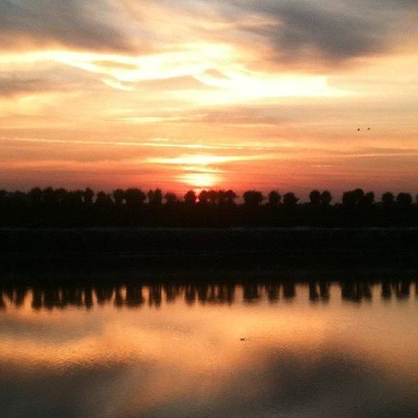 Norfolk Photograph - Sunset Across The River - No Filter by Just Berns