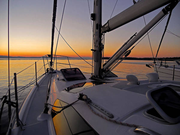Photograph - Sunset At Burlington Harbour ... by Juergen Weiss