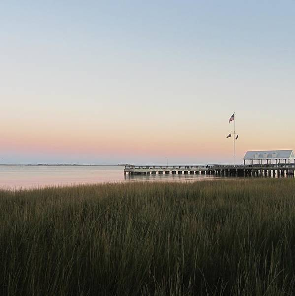 Low Battery Photograph - Sunset At Charleston Bay 2 by Cathy Lindsey