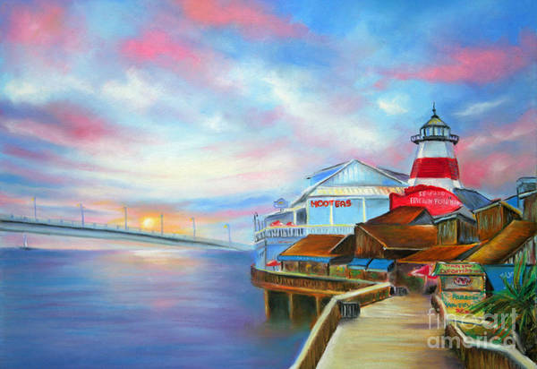 Wall Art - Pastel - Sunset At Johns Pass Madeira Beach by Gabriela Valencia